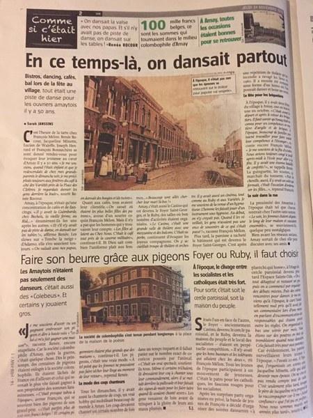 Article l'Avenir 24 nov. 2016